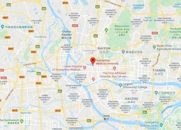 Guangzhou Medical University map