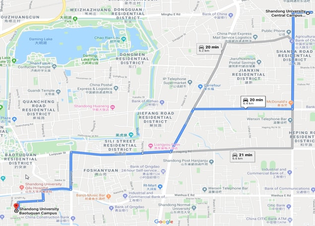Shandong University cheeloo college of medicine Map