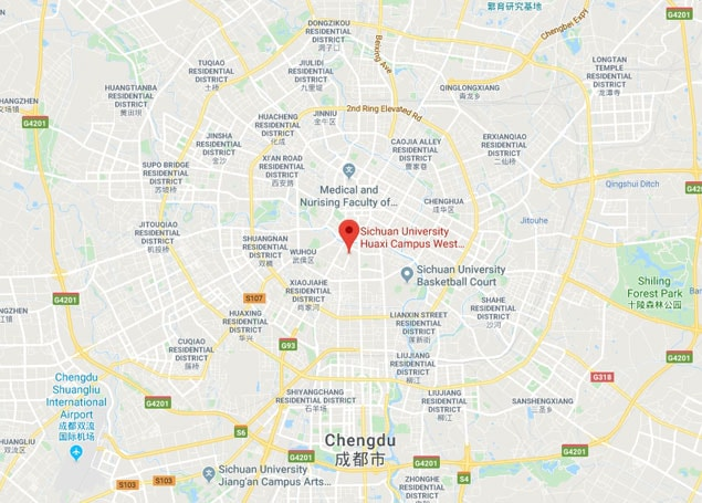 Sichuan University Medical College campus map