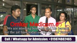 mahesh vyas father of XJTU student reviews about omkar medicom