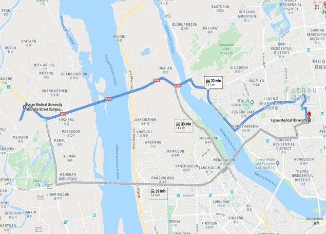 Fujian Medical University map
