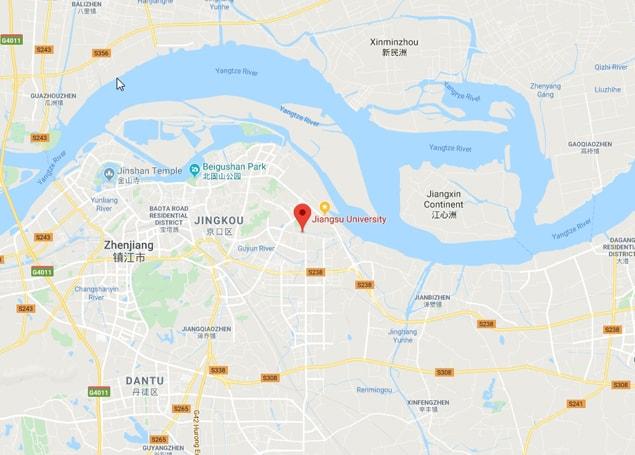 jiangsu university map